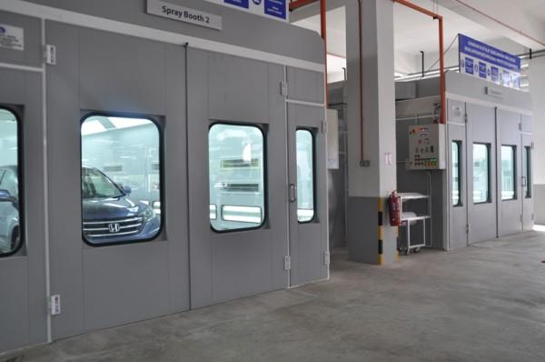 Spray Painting Booths at Macinda Auto Body and Paint Centre
