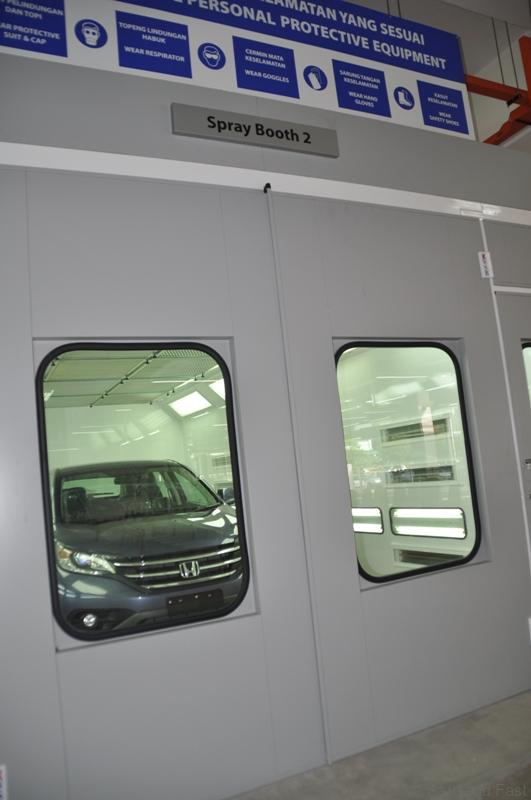 One of the 2 Spray Painting Booths at Macinda Auto Body and Paint Centre
