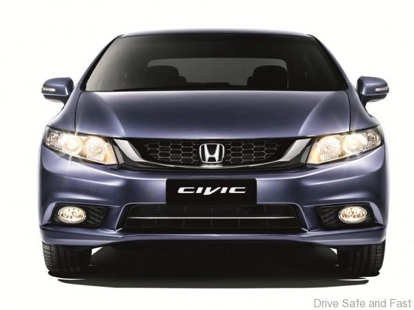 Honda New Civic with newly enhanced front grille design and lower grille assembly.