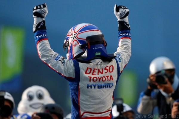 DAVIDSON Anthony (GBR) Toyota Ts 040 Hybrid Lmp1 H Team Toyota Racing , portrait podium ambiance during the 2014 FIA WEC World Endurance Championship, 6 Hours of Fuji from October 9th to 12th 2014, at Oyama, Japan. Photo Frederic Le Floch / DPPI