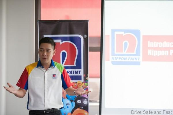 Mr. Alex Yoong, Assistant General Manager-Marketing of Nippon Paint Malaysia introducing Nippon Paint Malaysia
