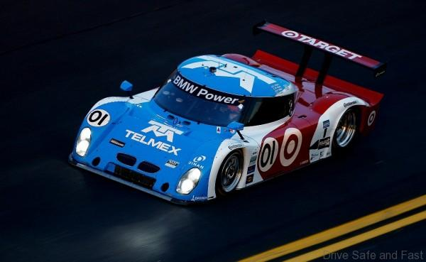 DAYTONA BEACH, FL - JANUARY 29: The #01 TELMEX/Target Chip Ganassi Racing with Felix Sabates BMW Riley driven by Scott Pruett drives during the Rolex 24 at Daytona International Speedway on January 29, 2011 in Daytona Beach, Florida. (Photo by Chris Graythen/Getty Images)