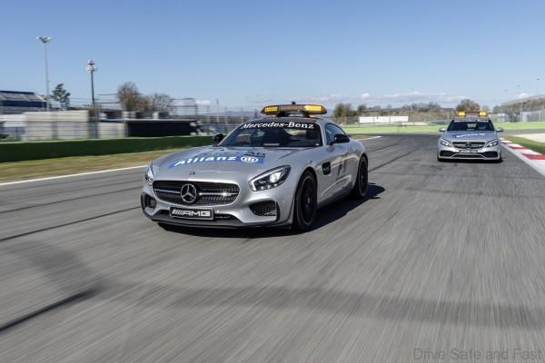Mercedes-AMG GT S als Official Safety Car und Mercedes-AMG C 63