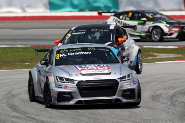 Mikhail Grachev (RUS), Audi TT, Liqui Moly Team Engstler , Michel Nykjaer (DEN), SEAT Leon Racer, Target Competition 29.03.2015. TCR International Series, Rd 1, Sepang, Malaysia, Sunday. - www.xpbimages.com, EMail: requests@xpbimages.com - copy of publication required for printed pictures. Every used picture is fee-liable. © Copyright: Photo4 / XPB Images