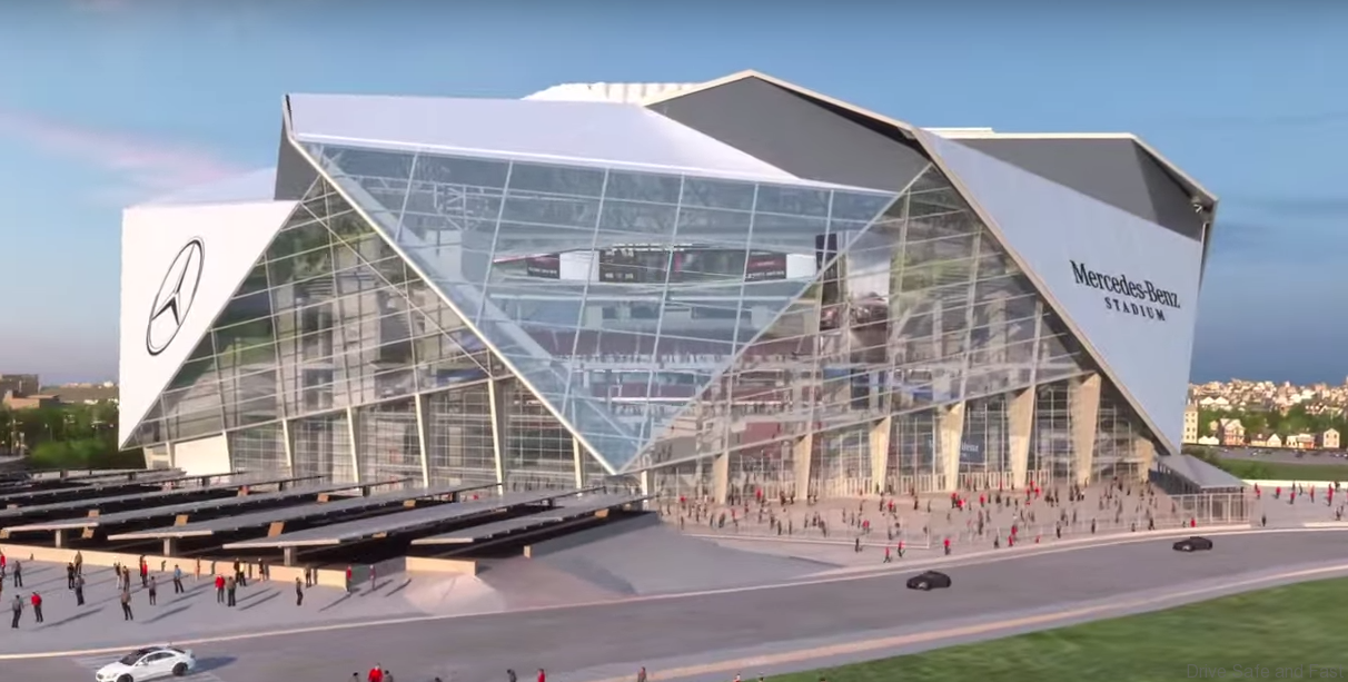 Mercedes benz plans stadium in america drive safe and fast for Who owns mercedes benz stadium