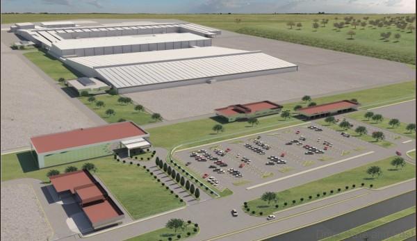 Localizado en las inmediaciones de la actual planta Nissan Aguascalientes A2, COMPAS contará con una capacidad de producción anual inicial de más de 230 mil vehículos (Foto aérea de COMPAS).