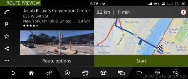 InControl Touch Pro - Route Preview with Street View