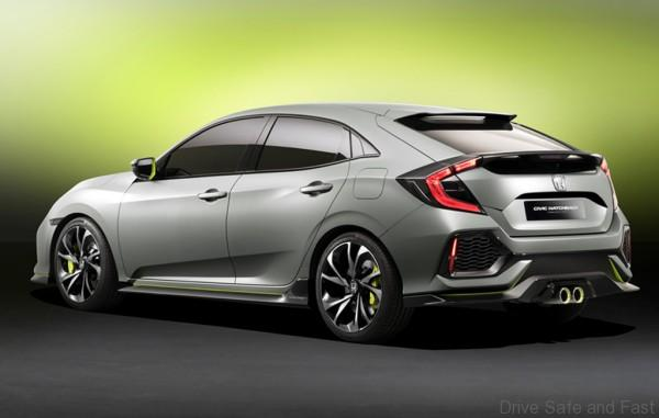 Civic hatchback prototype 3