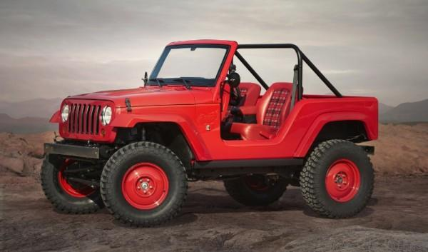 "Jeep(R) ""Shortcut"" Concept is one of seven vehicles built for 50th Annual Easter Jeep Safari in Moab, Utah (PRNewsFoto/FCA US LLC)"