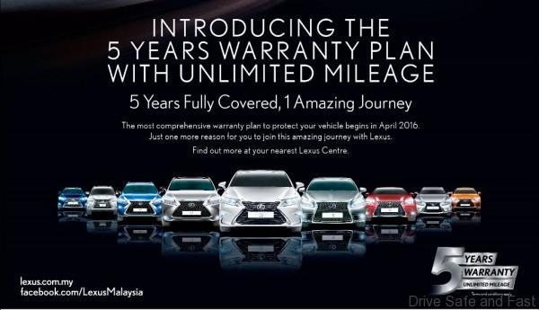 Lexus 5 YEARS37cmX26.1cm7