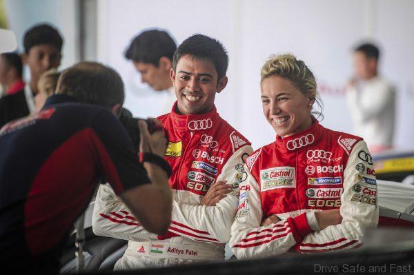 Aditya Patel (IND) Audi R8 LMS Cup Team and Rahel Frey (SUI) Castrol Racing Team at Audi R8 LMS Cup, Rd4, Sepang, Malaysia, 4-6 September 2015.