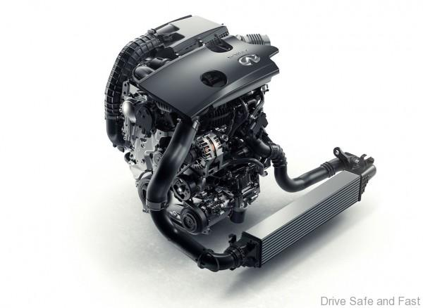 More than 20 years in development, INFINITIís new four-cylinder turbocharged gasoline VC-T engine represents a major breakthrough in internal-combustion powertrain technology. VC-T technology signifies a new chapter in the story of the internal combustion engine ñ engines are no longer limited by a fixed compression ratio. The ingenuity of VC-T engine technology lies in its ability to transform itself and seamlessly raise or lower the height the pistons reach. As a consequence, the displacement of the engine changes and the compression ratio can vary anywhere between 8:1 (for high performance) and 14:1 (for high efficiency). The sophisticated engine control logic automatically applies the optimum ratio, depending on what the driving situation demands.