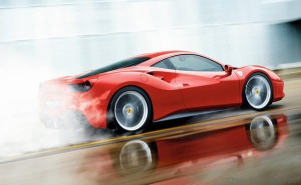 ferrari wet driving