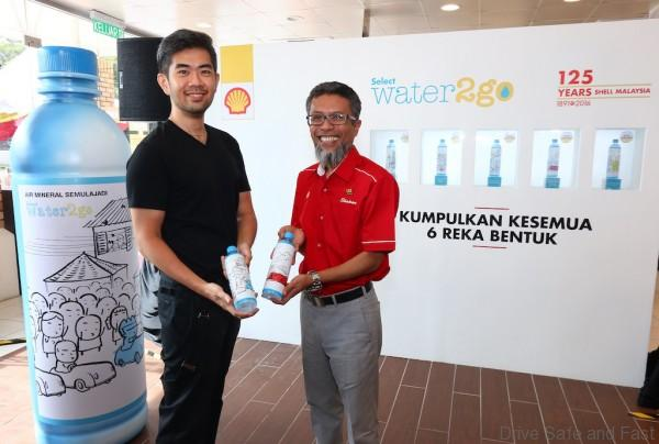 Image 1 - Cheeming Boey (left) and Shairan Huzani Husain (right) at the launch of limited edition Select water2go