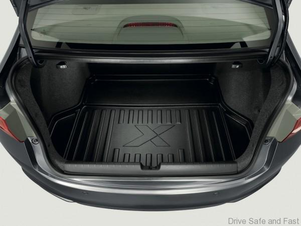 The X Edition models comes with a Trunk Tray for customer convenience