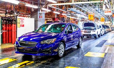the first ever american made impreza rolls off assembly line drive safe and fast. Black Bedroom Furniture Sets. Home Design Ideas