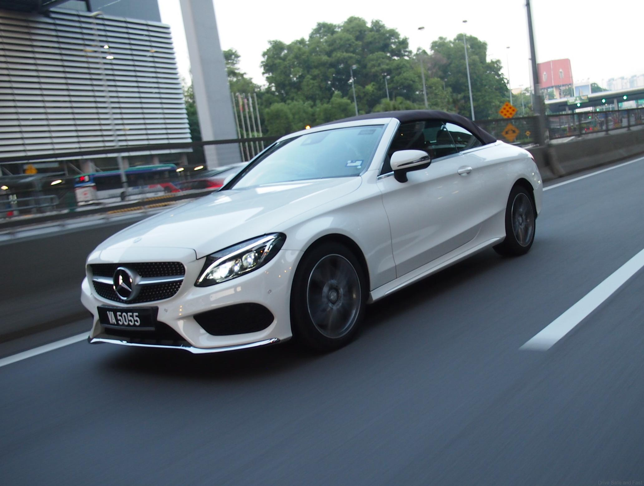 You only live once the mercedes c 250 drop top drive for Drop top mercedes benz prices