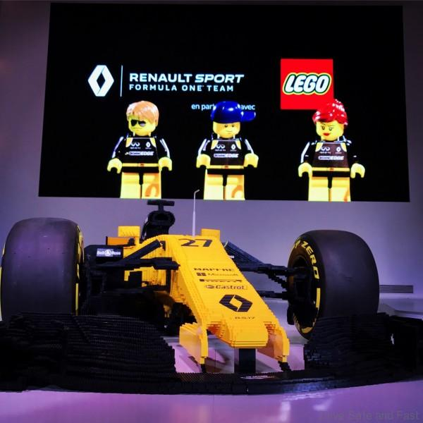 Renault Celebrates 40th Anniversary Of Formula 1 With: Lego Builds A Full-Sized Renault Sport's F1 Car