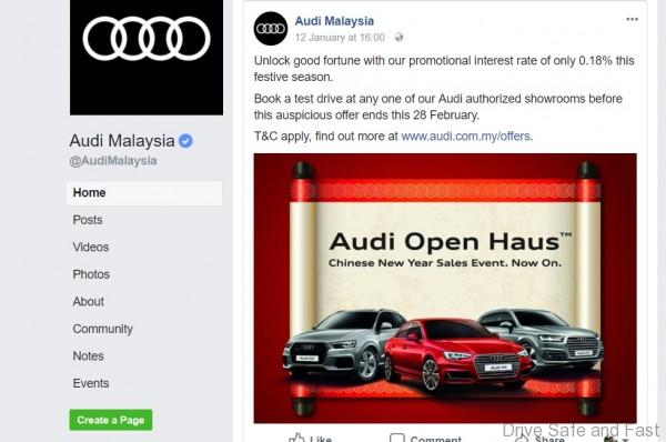 Read The Fine Print On This Audi CNY Sales Events Drive Safe And Fast - Audi car loan interest rate