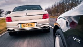 2020 Bentley Flying Spur rear motion
