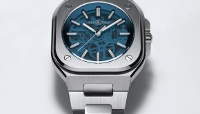BELL & ROSS BR 05 Skeleton Blue Bracelet